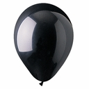 "9"" Black Latex Helium Balloons 100 per bag"