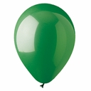 "9"" Green Latex Balloons 100 per bag"