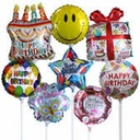 "9""-14"" Mini Foil Balloons Not Self Sealing Air Fill Only"