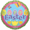 "9"" Mini Happy Easter Air Fill Foil Balloon 1 per pack"
