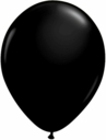 "9"" Qualatex Onyx Black Latex Balloons 100ct"