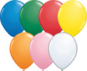 "9"" Qualatex Latex Balloons 100 per bag"