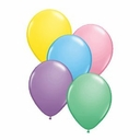 "Qualatex balloons 9"" Pastel assortment 100ct per bag"