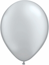 "9"" Qualatex Silver Helium Latex balloons 100 per bag"