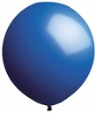 "96"" Blue Large Round Latex Balloons"