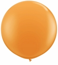 "96"" Orange Large Round Latex Balloons"