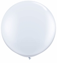 "96"" White Large Round Latex Balloons"