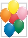 "11"" BSA Latex Balloons Standard Color Assortment 100 Count Bag."