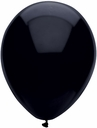 "Bsa Pitch Black Latex Balloons 11"" Bsa Black Balloons 100 bag"