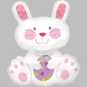 "Bunny Rabbit Balloon Great for Easter 36"" Jumbo"