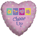 "18"" Cheer Up Heart Shape Helium Foil Balloon"