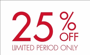 Take Additional 25% OFF Close Outs