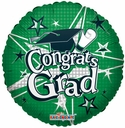 "18"" Graduation Balloon Green round Congrats Grad 1ct"