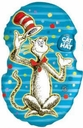Large Shape Cat in the Hat Foil Balloon 1ct