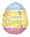 "18"" Easter Egg Shape Helium Foil Balloon1ct"