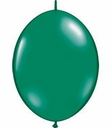 "12"" Emerald Green Qualatex Quick Link Latex Arch Balloons 50 per bag"