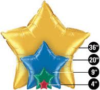Foil Star Balloons For Helium