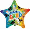 "18"" Rainbow Star shape Graduaution Helium Balloons 1 per package"