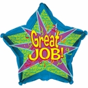 "18"" Great Job Motivational Helium Balloons 1 per pack"