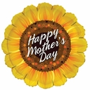 """18"""" Happy Mother's Day Sunflower Shape Helium Balloon 1ct"""