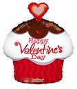 Happy Valentine's Day Balloon Cup Cake Shape 1ct