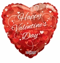"18"" Happy Valentine's Day Clear View Helium Balloon 1ct"