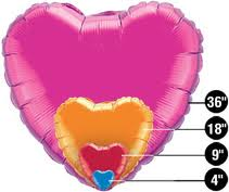 Foil Heart Balloons All Colors