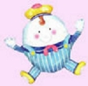 "Jumbo 30"" Humpty Dumpty Foil Balloon Close Out"