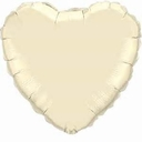 "Special 100 - 18"" Ivory Heart Foil Balloons .38c Each"