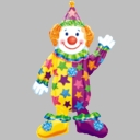 Full Size Juggles the Clown Foil Balloon Air Walker