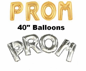 Jumbo Foil Gold & Silver Letter Balloons Helium or Air 40""