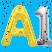 Foil Letter Balloons and Number Balloons