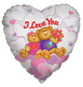 "36"" I Love You Bear Couple Foil Balloon 1ct"