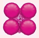 Magic Arch Large Fuchsia Balloons Foil Arch Balloons