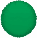 "Round Green Mylar Balloons 18"" 1 per pack"