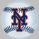 "18"" NY Mets Foil Helium Balloons 1-per pack"