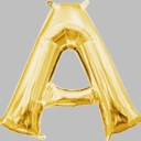 "16"" Mini Gold Letter Balloons Self Sealing"