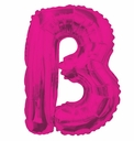 "14"" Mini Hot Pink Letter Balloons Self Sealing"