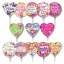 "Mini Foil Mother's Day Air Fill Balloon 4"" & 9"" Air Fill Only. Heat Sealer Required"