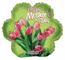 """18"""" Mother's Day Tulips Helium Foil Balloon 1ct"""