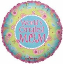 """18"""" Mother's Day Paisley Helium Foil Balloon 1ct"""