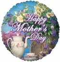 """18"""" Mother's Day Tea Time Helium Foil Balloon 1ct"""