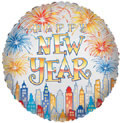 "18"" New Year  Skyline Foil Balloon 1ct"