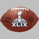 "18"" Official Super Bowl 49 Football Shape Foil Helium Balloon 1ct"