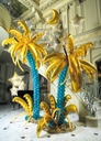 Palm Frond Balloons are Used to Create Palm leaves