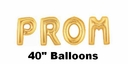 Prom Balloon Kit Gold PROM Letter Balloons Ask your Date With Balloons