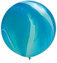Qualatex Agate Marble Latex Balloons