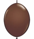 "12"" Qualatex Quick Links Chocolate Brown 50 per Bag"