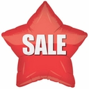 """18"""" Red SALE Star Balloon 1ct"""