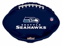 "18"" Seahawks Football Shape Helium Balloon 1 Per Pack"